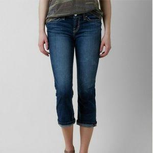 BKE Buckle Payton Dark Wash Denim Capri Jeans 28